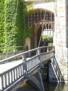 Yes, it has a moat and a drawbridge!