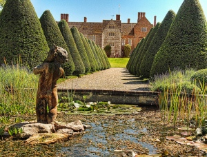 The garden of Littlecote House Hotel in Wiltshire