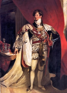 George IV at his Coronation