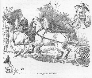 Through the tollgate: an example of the illustrations