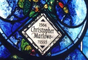Memorial window to Christopher Marlowe, Poets' Corner, Westminst