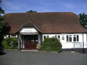 The White Hart Barn, now the village hall of Godstone Green