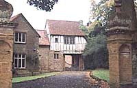 The gatehouse occupied by the Catesbys