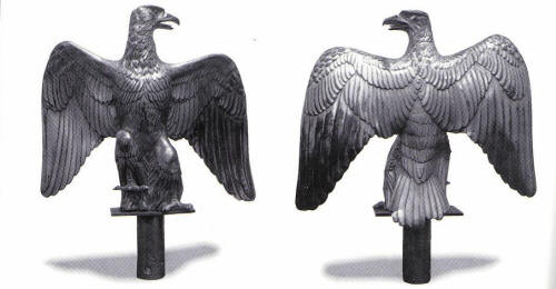 Two imperial eagles snatched from the French during the Battle of Salamanca