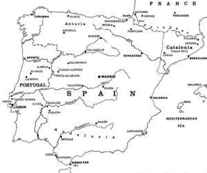 peninsular war map