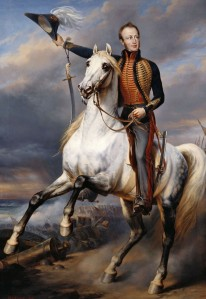 PRINCE OF ORANGE ON HORSE