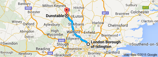 ISLINGTON TO DUNSTABLE
