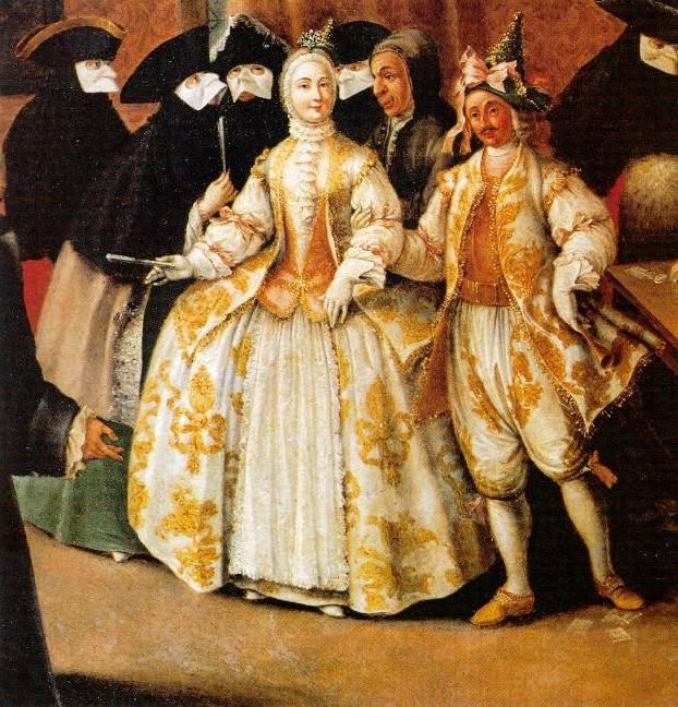 The Ridotto in Venice, Pietro Longhi, 1750's