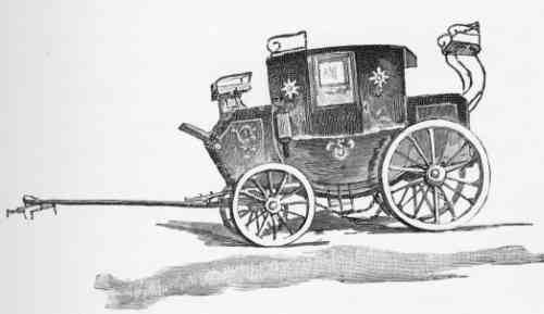 old English flying mail coach