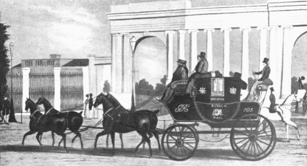 stage coach and mail