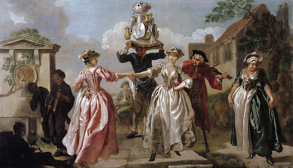 Francis Hayman and studio, The Milkmaids' Garland, oil on canvas, c. 1740 (Victoria and Albert Museum, London)