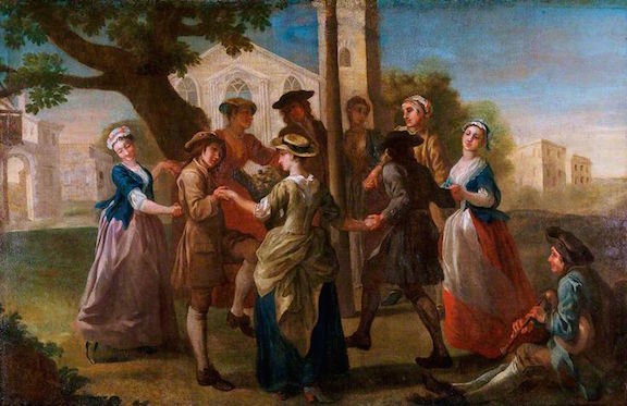 Francis Hayman and stuido, Country Dancers round the Maypole, oil on canvas, late 1730's (Victoria and Albert Museum, London)