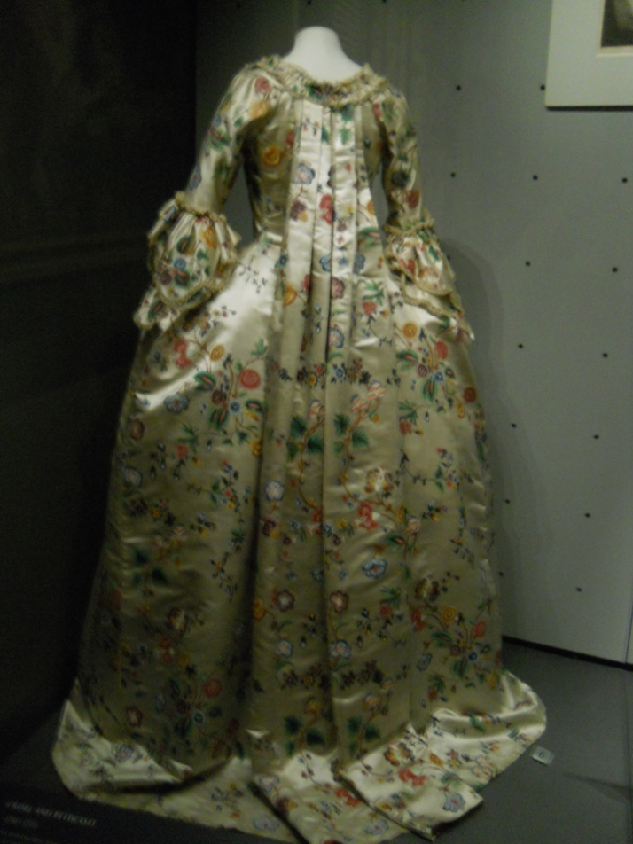 Painted silk gown