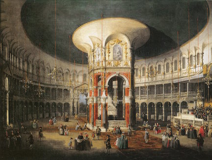 Giovanni Antonio Canal, il Canaletto. The Interior of the Rotunda at Ranelagh, oil on canvas, c.1751.
