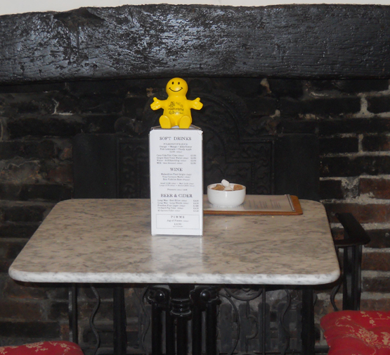 Squidge at a The Apiary Café in Alfriston
