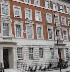 No. 42, Grosvenor Square, the Pendletons' London home