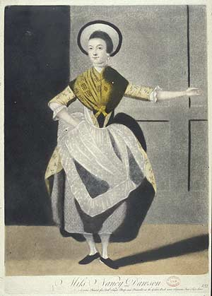 Lithograph of Nancy Dawson c 1760