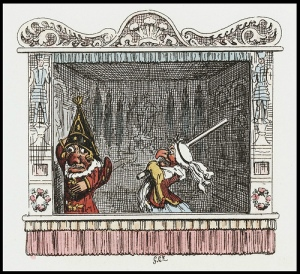 Punch & Judy by Cruikshank, 1828