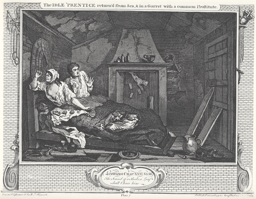 william_hogarth_-_industry_and_idleness_plate_7_the_idle_prentice_returnd_from_sea__in_a_garret_with_common_prostitute