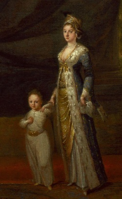 Lady Mary Wortley Montagu with Her Son Edward. Lady Mary was the first to bring smallpox inoculation to Western medicine after her experiences in the Ottoman Empire.