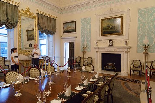 The dining room from Landsdowne House, now located at the Lloyd's Building