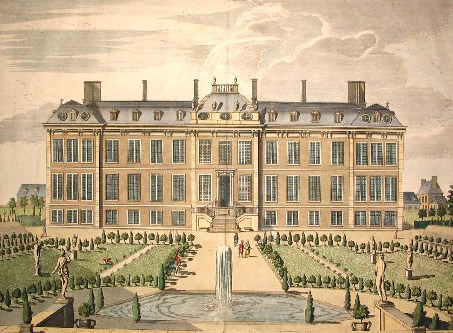The North Prospect of Mountague House by James Simonic, 1715