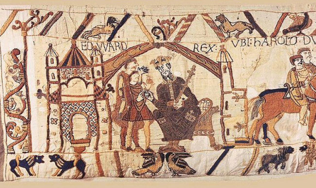 Bayeux Tapestry: King Edward the Confessor Talks to Earl Harold
