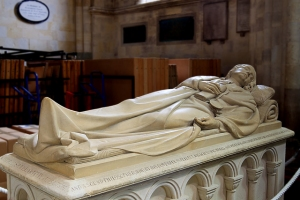 Monument to Sir William Petty, Romsey Church, Hampshire