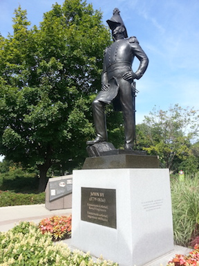 Lt. Colonel By statue overlooking the locks in Ottawa (my own photo)