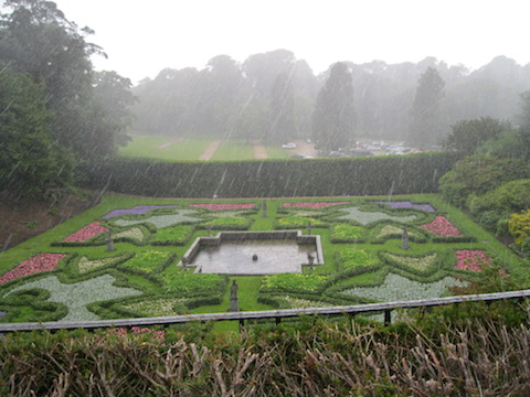 The Dutch Garden in the rain