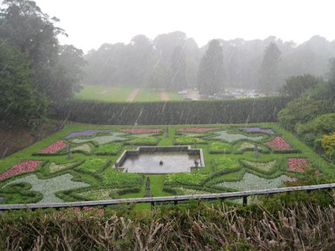 The Dutch Garden in the rain