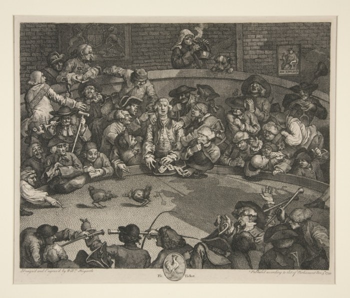 William Hogarth: The Cock Fight