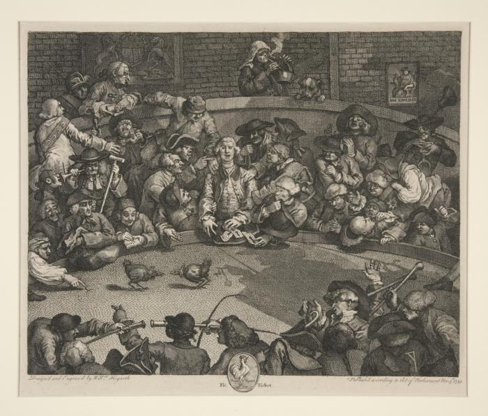 William Hogarth: The Cock Fight