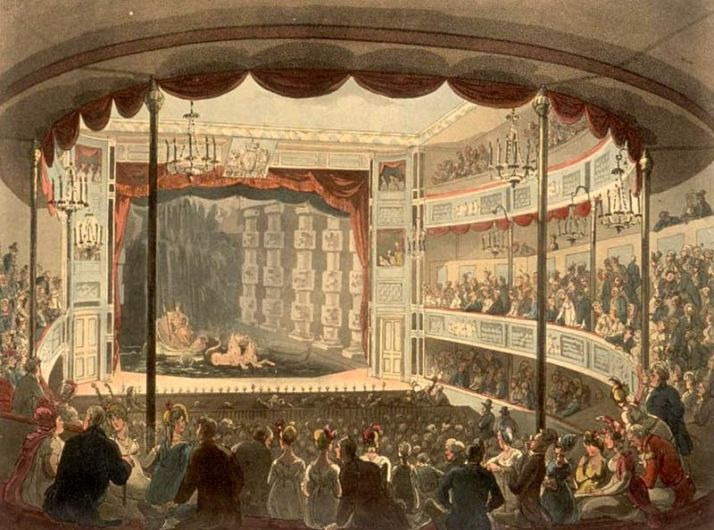 Interior of theater at Sadler's Wells, 1810